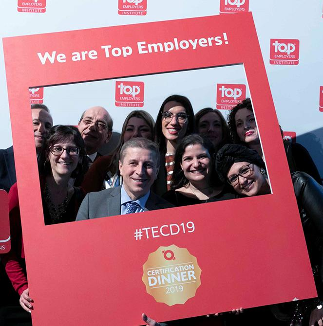 Saint-Gobain Italia per il 6° anno consecutivo ottiene  la certificazione Top Employer 2019