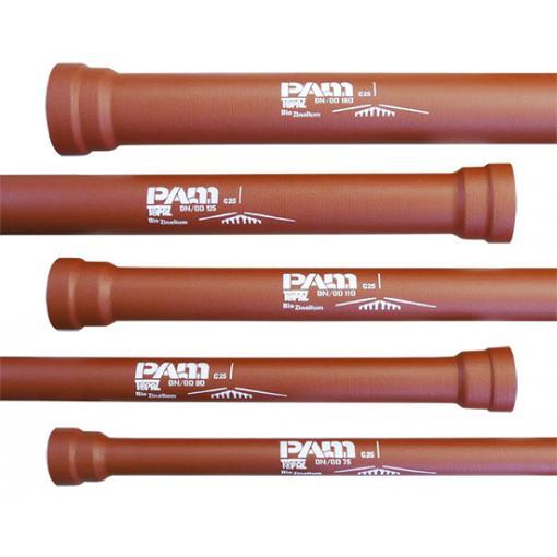 Tubo in ghisa sferoidale REDTOP per fognatura in piccoli diametri - DN/OD: 75, 90, 110, 125,140, 160
